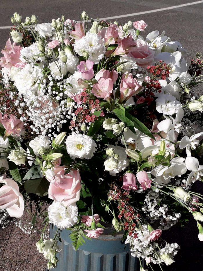 bouquet deuil couleurs claires Saint Cloud le Chapelin Fretz