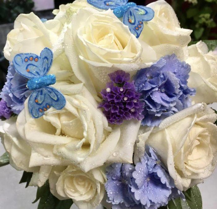 bouquet mariage beige et violet fleuriste Saint Cloud le Chapelin Fretz