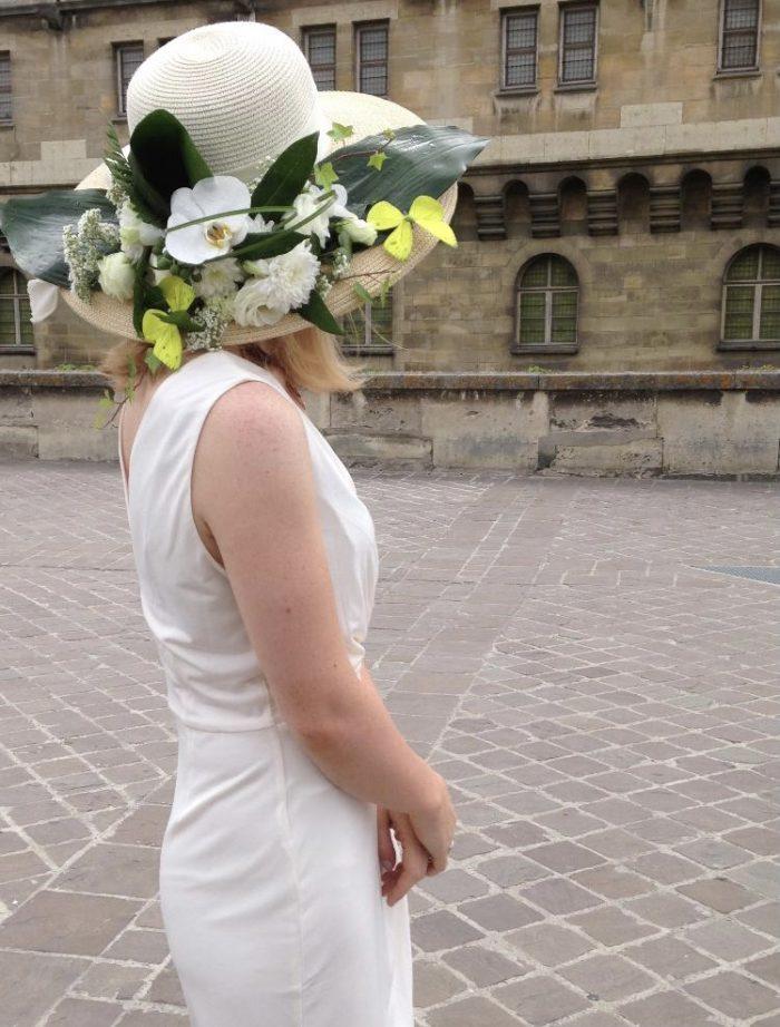 chapeau fleuriste mariage Saint Cloud le Chapelin Fretz