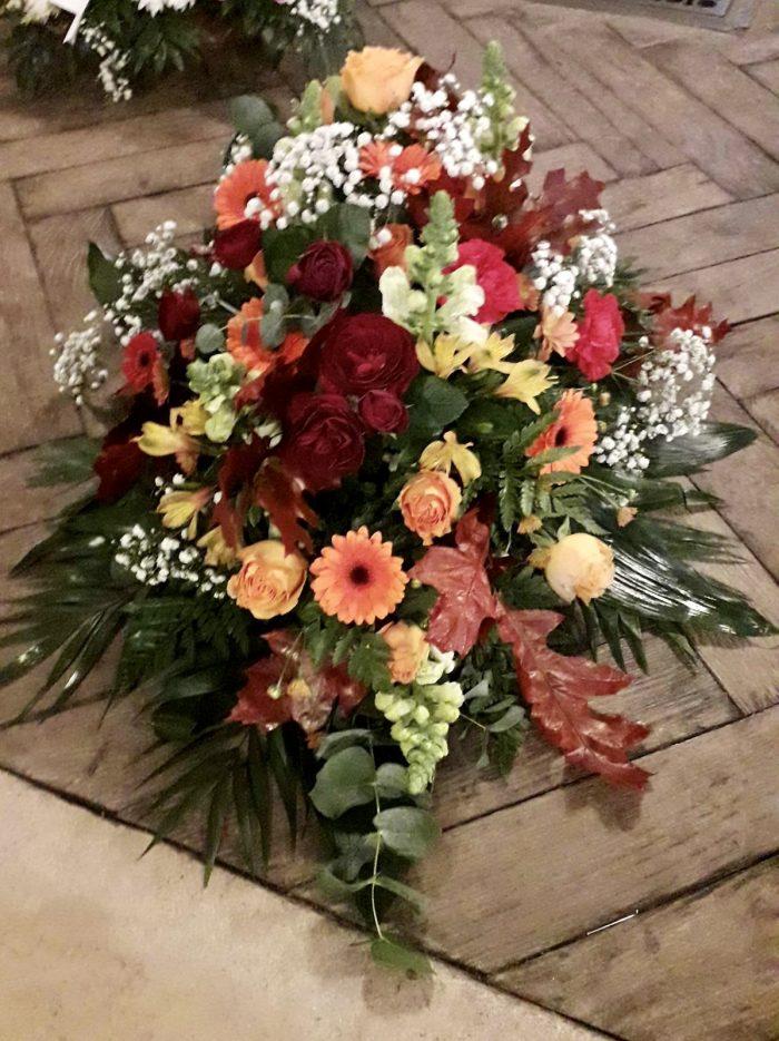 composition deuil automne fleuriste Saint Cloud le Chapelin Fretz