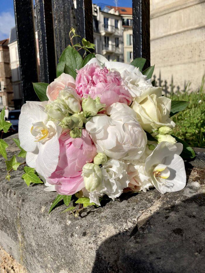 bouquet mariage le Chapelin Fretz fleuriste saint cloud